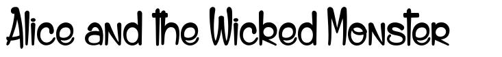 Alice and the Wicked Monster font