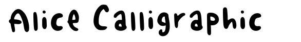 Alice Calligraphic
