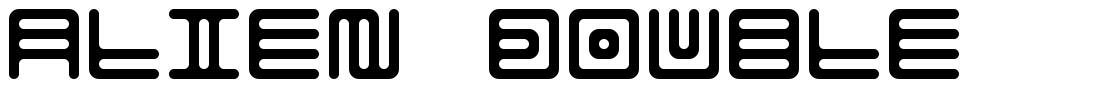 Alien Double font