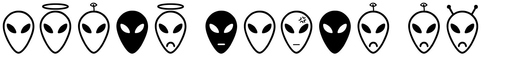 Alien Faces ST 字形