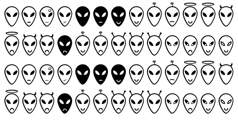 Alien Faces ST font