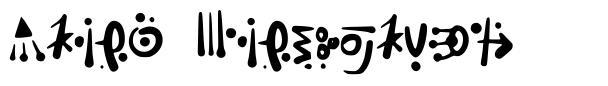 Alien Hieroglyph písmo