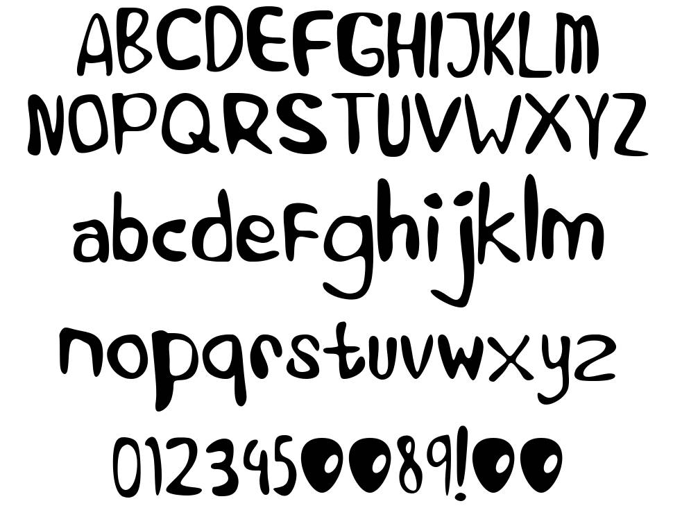 Alien Learns To Write font
