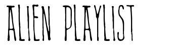 Alien Playlist font