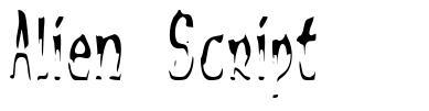Alien Script písmo