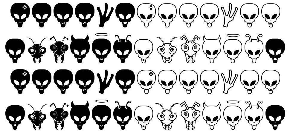 Aliens Bats St font