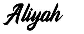 Aliyah font