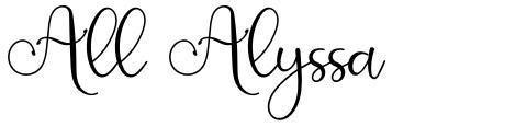 All Alyssa