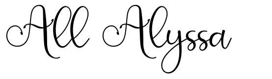All Alyssa フォント