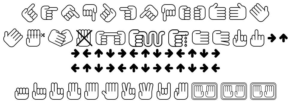 All My Hands font