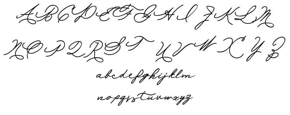 Allexandia шрифт