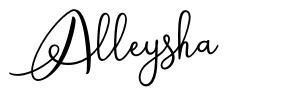 Alleysha