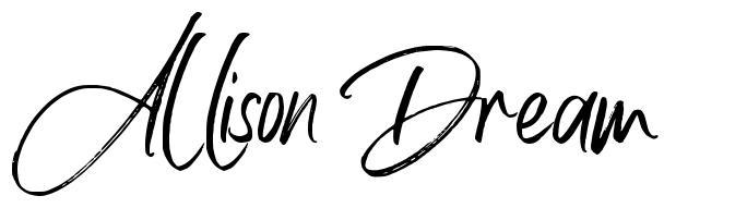 Allison Dream फॉन्ट