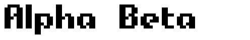 Alpha Beta font