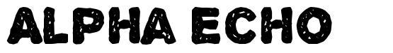 Alpha Echo шрифт