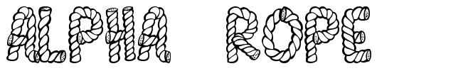 Alpha Rope font