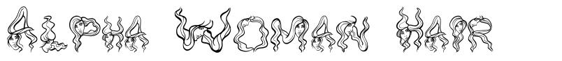 Alpha Woman Hair font