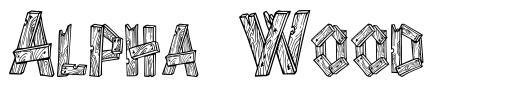 Alpha Wood 字形