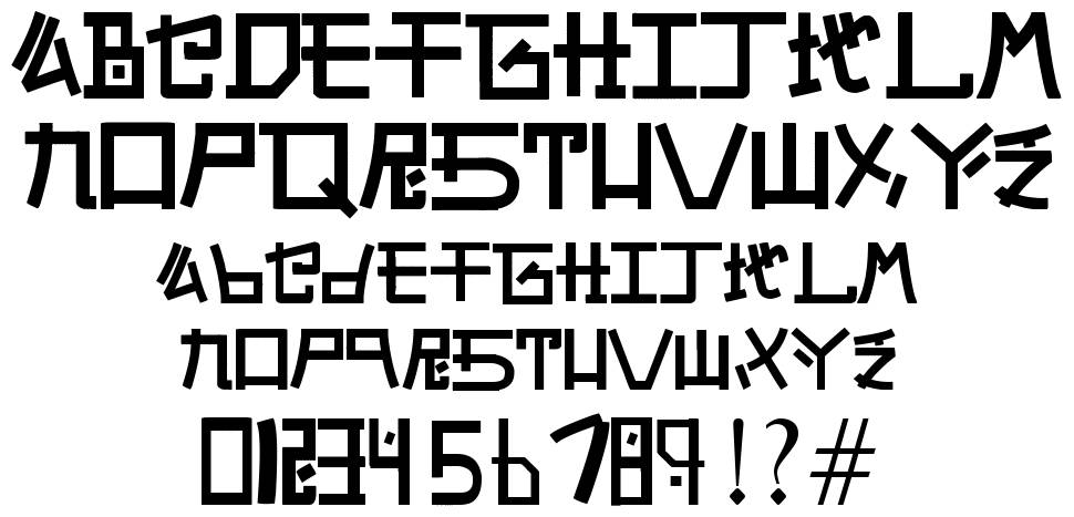 Alphabet SNK by PMPEPS font