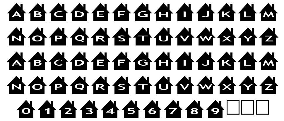 AlphaShapes houses 字形