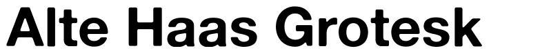 Alte Haas Grotesk 字形