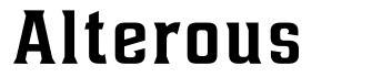 Alterous font