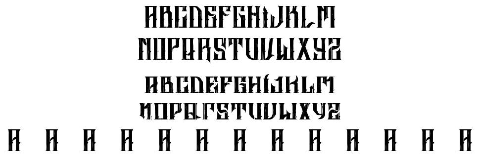 Altrashed-Rough font