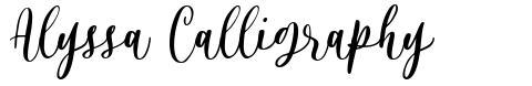 Alyssa Calligraphy