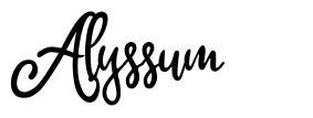 Alyssum czcionkę