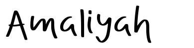 Amaliyah font
