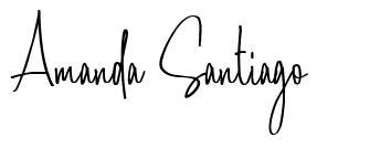 Amanda Santiago font