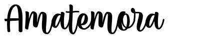 Amatemora шрифт