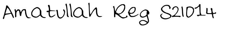 Amatullah Reg S2014