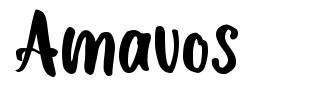 Amavos schriftart