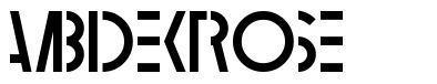Ambidextrose font