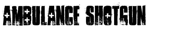Ambulance Shotgun 字形