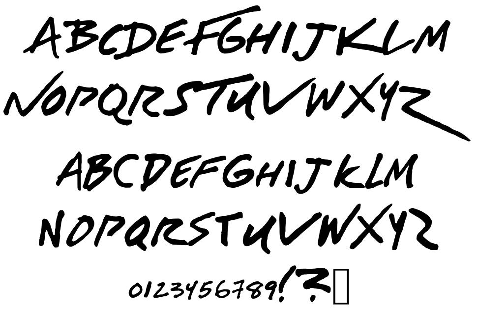American Authors font