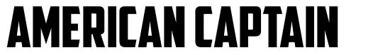 American Captain 字形