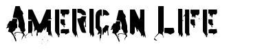 American Life font