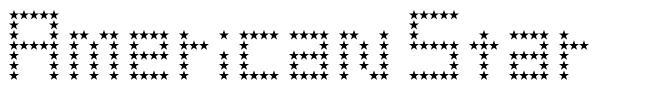 American Star font