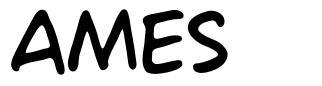 Ames шрифт