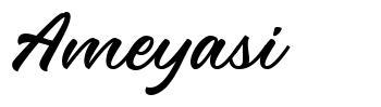 Ameyasi 字形