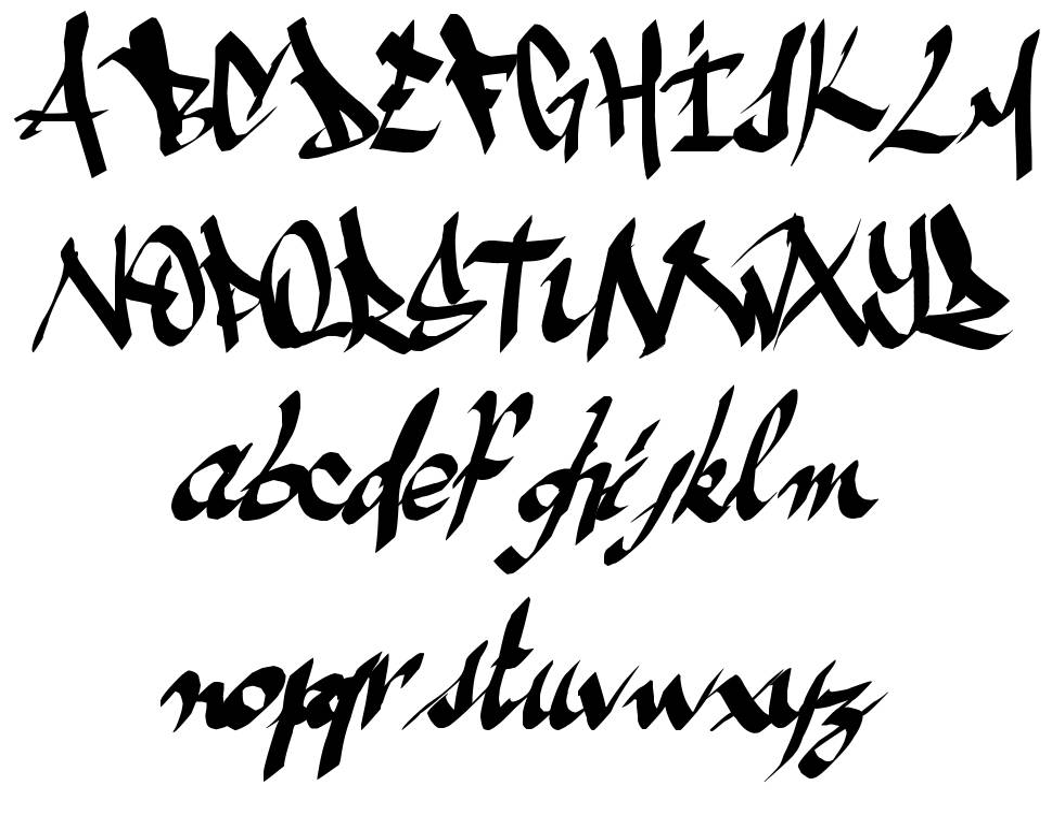 Ameze's Font 字形