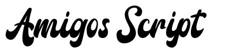 Amigos Script fuente