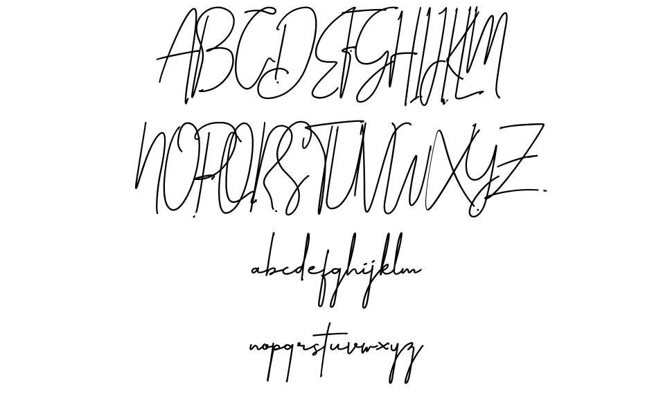 Amillia Signature font