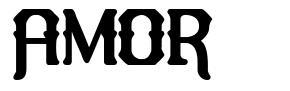 Amor шрифт