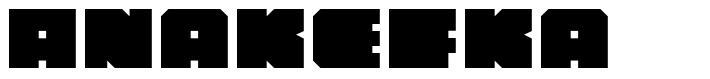 Anakefka шрифт