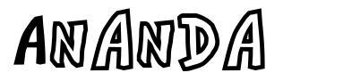 Ananda font