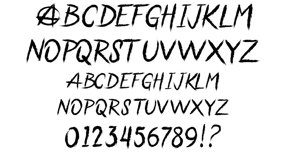 Anarchaos font