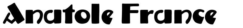 Anatole France шрифт
